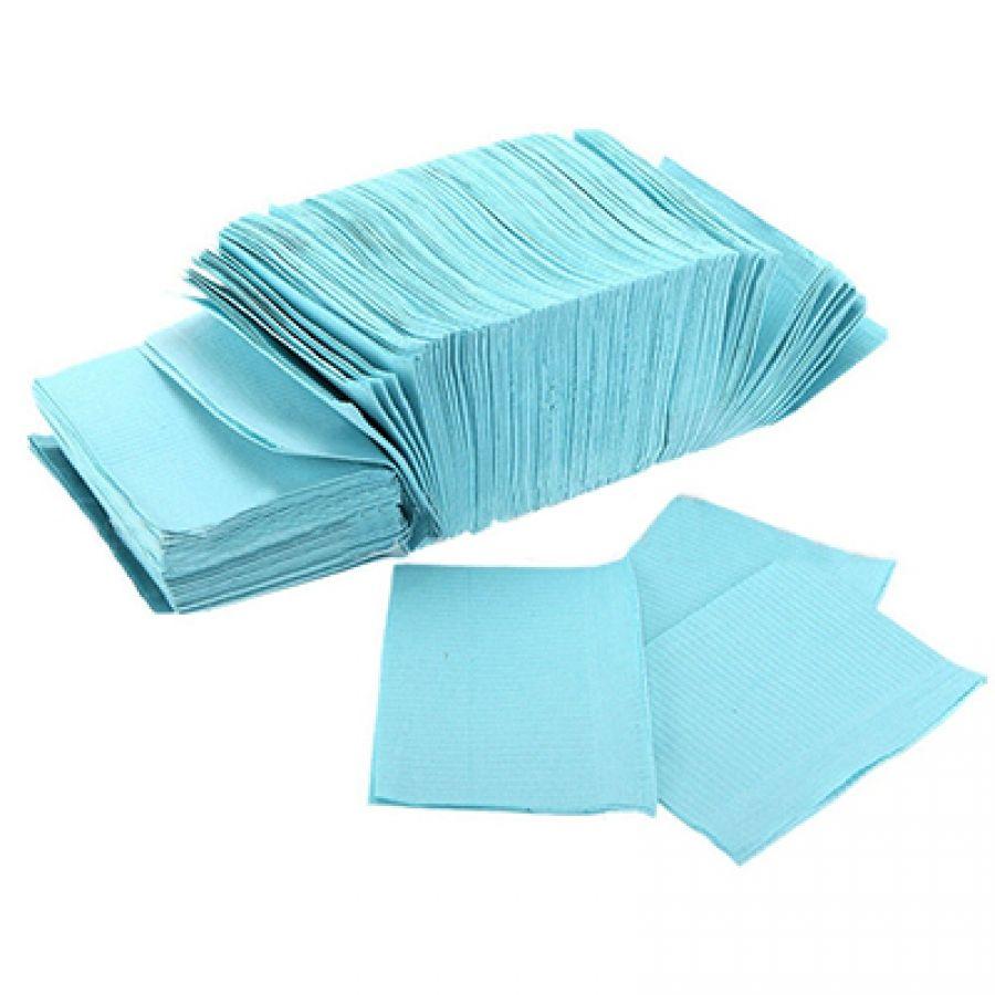 Нагрудные салфетки JNB 33х45см синие 500шт