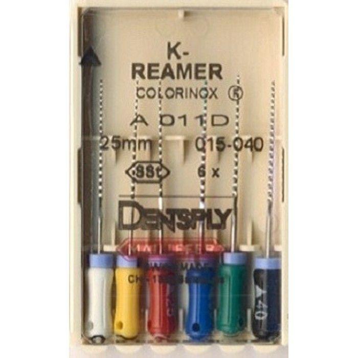 Инструмент ручной Maillefer K-Reamer Colorinox №15/40 25мм 6шт A011D02590012