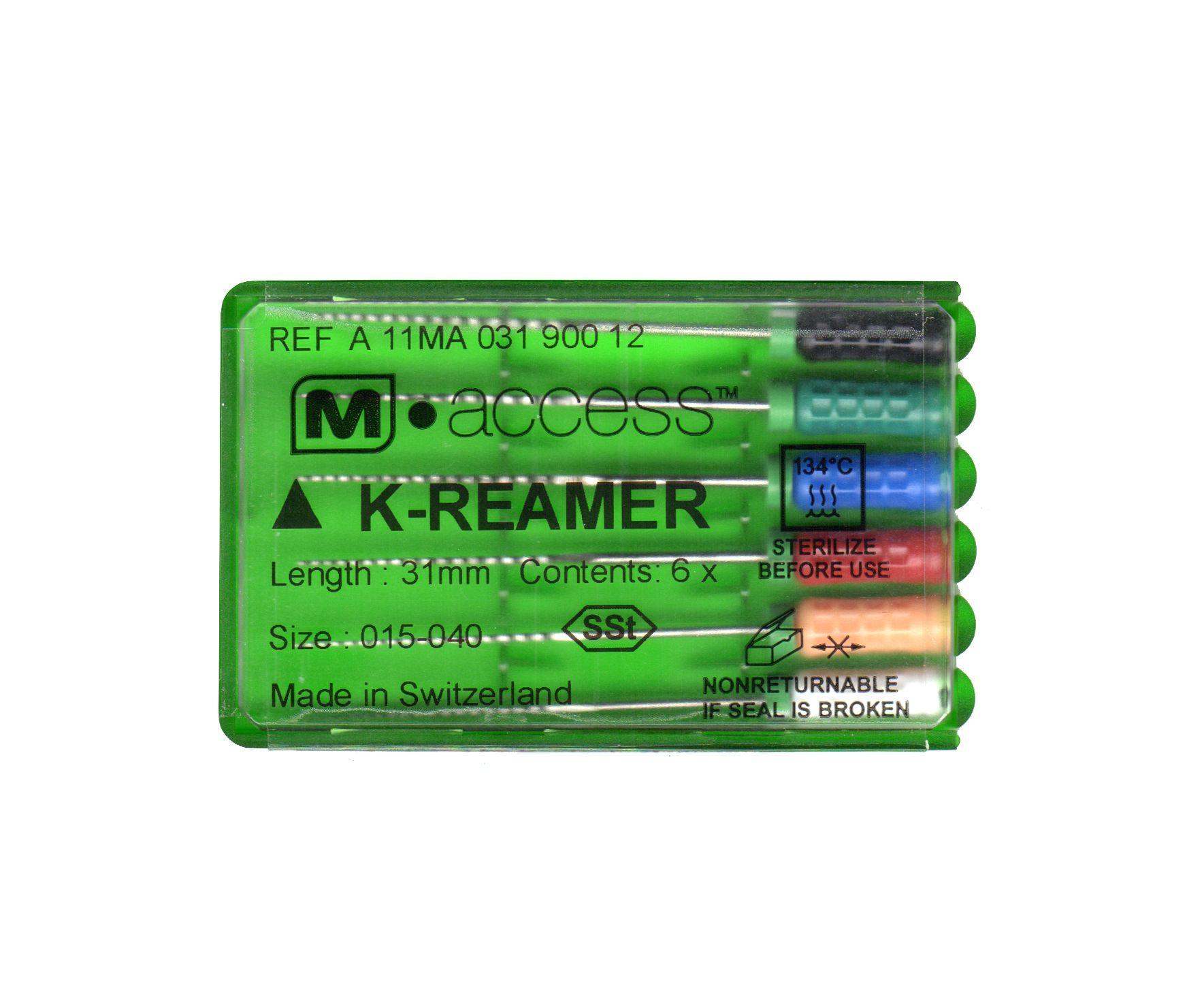 Инструмент ручной Maillefer K-Reamer M-Access №40 21мм A11MA02104012