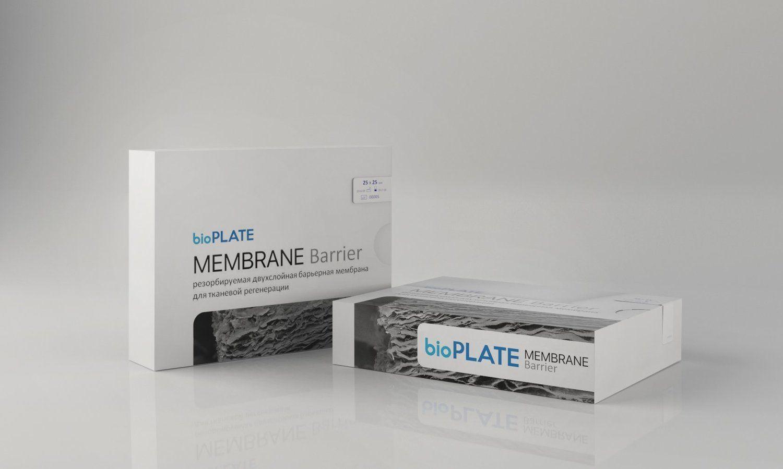 Мембрана bioPLATE Membrane Barrier резорбируемая двухслойная барьерная 15х20мм, MB-15