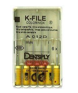 Инструмент ручной Maillefer K-File Colorinox №20 25мм 6шт A012D02502012