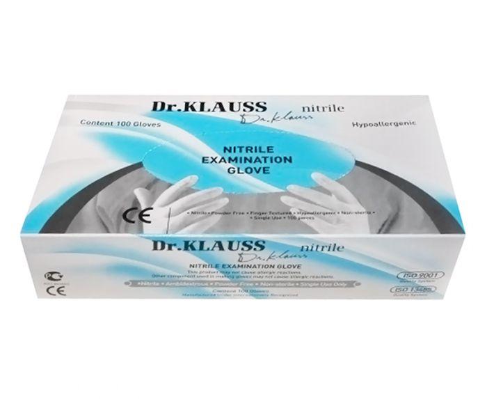 Перчатки Dr.Klauss нитриловые, размер ХS, 100шт