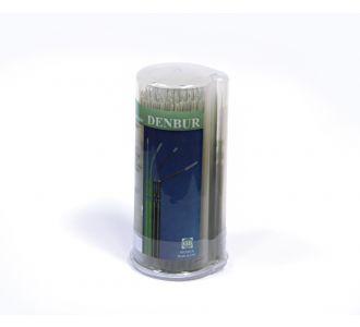Аппликаторы Denbur Nano-Brush длинные, черные, диспенсер 120шт