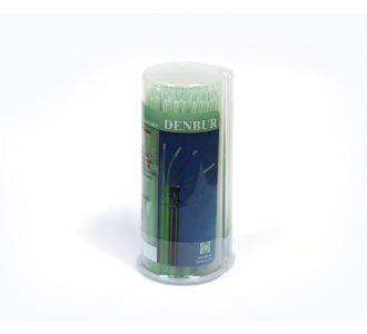 Аппликаторы Denbur Nano-Brush длинные, для эндодонтии, зеленые, диспенсер 120шт