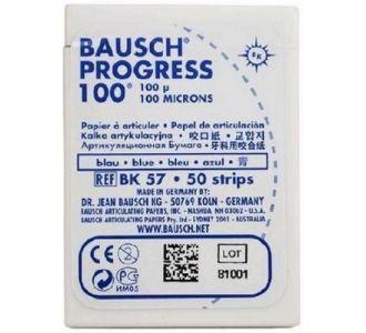 Бумага артикуляционная Bausch BK 57 100мкм синяя, 50 листов