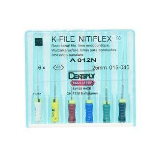 Инструмент ручной Maillefer K-File Nitiflex №40 21мм A012N02104012
