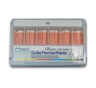 Гуттаперчевые штифты Meta Dental №45 (120шт)
