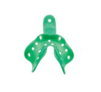 Hi-Tray Light Clear  нижняя челюсть (средняя) - слепочная ложка из зеленого пластика для беззубой челюсти Zhermack