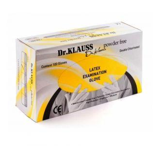 Перчатки Dr. Klauss латексные, размер S,  100шт.
