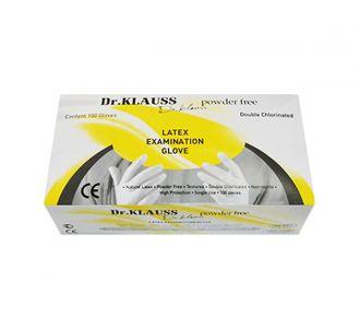 Перчатки Dr.Klauss латексные, размер XS, 100шт.