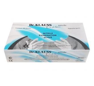Перчатки Dr.Klauss нитриловые, цвет черный, размер L, 100шт