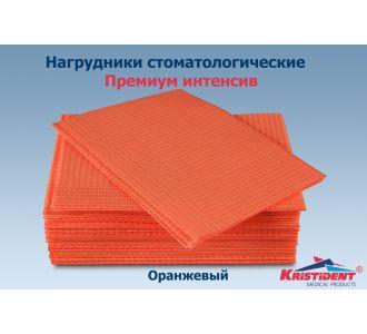 Нагрудные салфетки премиум интенсив, 2-х слойные, оранжевые, 500шт