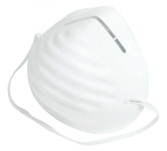 Фильтрующая полумаска для защиты от аэрозолей FFP1, чашеобразная JM Бэйсик 01  ( 50 шт)