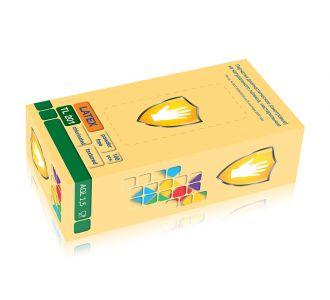 Перчатки латексные, светло-желтые размер, 100 шт SC TL 201