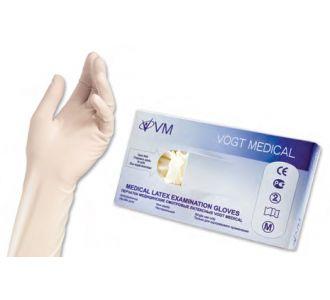 Перчатки латексные, светло-желтые, S, 100 шт, Vogt Medical