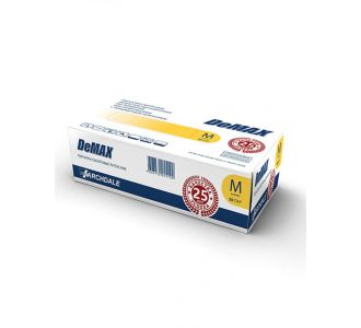 Перчатки латексные светло-желтые размер  L, 100 шт, DeMAX