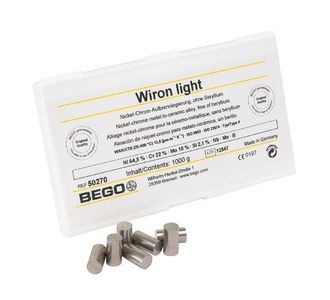Сплав Bego Wiron Light NiCr, 1кг,