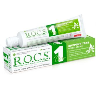 Зубная паста ROCS UNO Herbal Energy Энергия трав 74г
