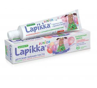 Зубная паста Lapikka Клубничный мусс с кальцием и микроэлементами 74г