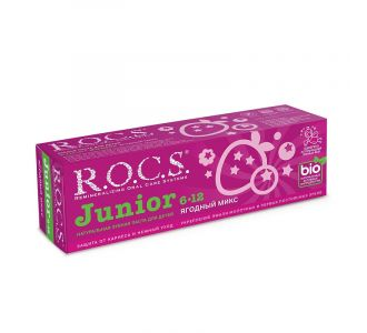 Зубная паста R.O.C.S Junior ягодный Микс, 74 гр