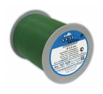 Восковая проволока Yeti Consequent,  мягкая, изумрудная,  D= 3,5 мм, вес 250 г