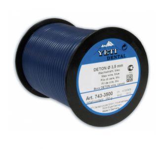 Восковая проволока Yeti DETON, ср. твердость, синяя, D=3,0мм, 250г,