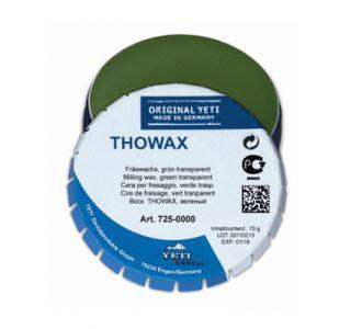 Воск Yeti THOWAX фрезерный , зеленый, прозрачный, жестяная банка 70г,