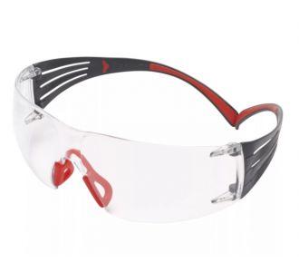 Защитные очки 3M SecureFit 401 арт. SF401SGAF-RED-EU., прозрачные