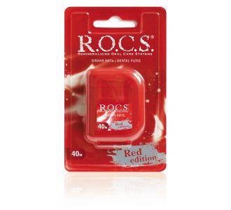 Зубная нить R.O.C.S. Red Edition крученая 40м